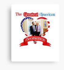 Joe Biden Barack Obama Greatest American Bromance Funny T-shirt Canvas Print