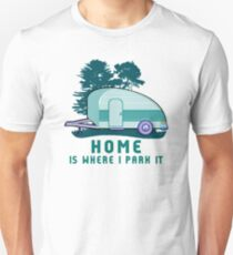 Camping Home TearDrop Trailer Unisex T-Shirt