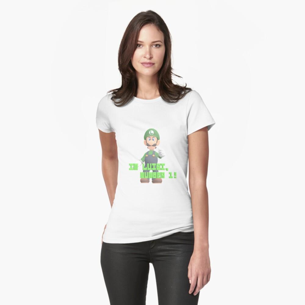 Super Mario Bros. - Luigi Tailliertes T-Shirt