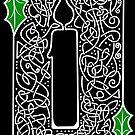 Celtic Knotwork Candle - Black by Rose Gerard