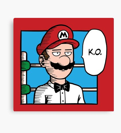 One Punch-Out Man Canvas Print
