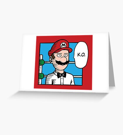 One Punch-Out Man Greeting Card