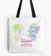 You Are Beautiful (Pastel Gore) Tote Bag