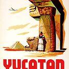 Yucatan Mexicana de Aviacion Via Pan American World Airlines Vintage Travel Poster by Framerkat