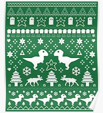Geeky Christmas Sweater ver.green Poster