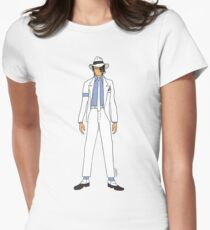 Smooth Criminal Jackson Womens Fitted T-Shirt