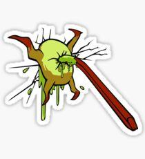 I kill crabs Sticker