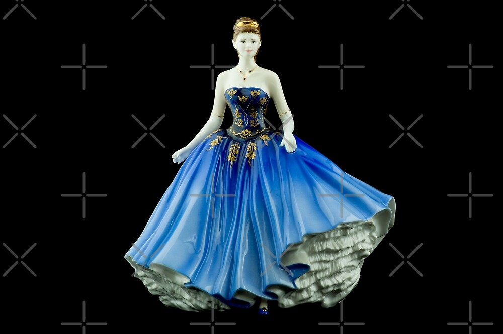 Bone China Figurine wearing a Blue Dress by Russell102
