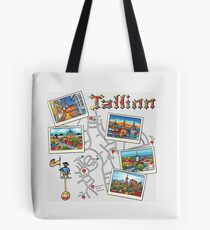 Color Travel book Tallinn, Estonia Tote Bag