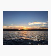 Lake water sunset Photographic Print