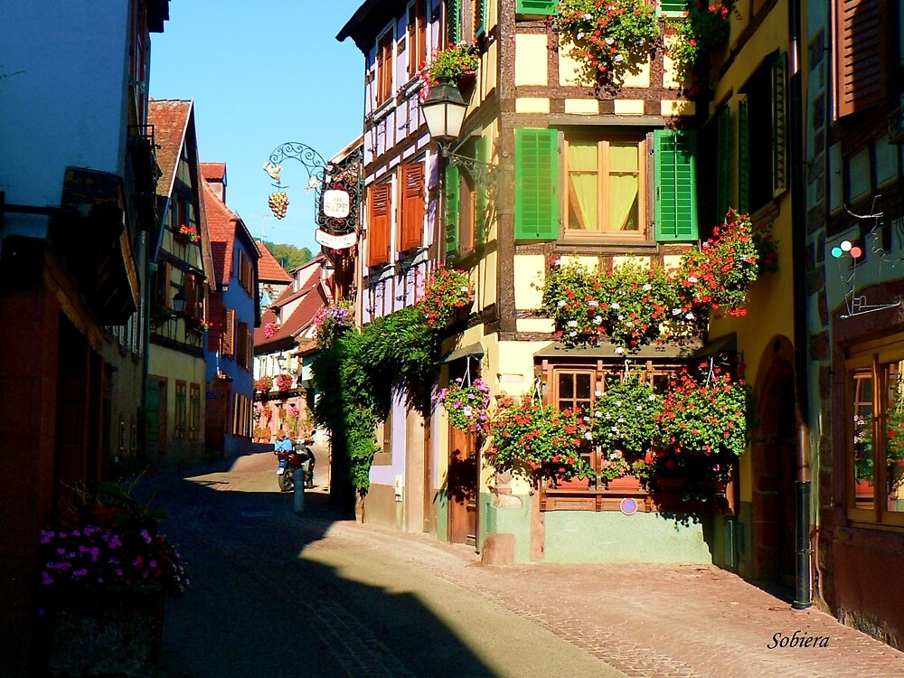 Une Rue d'Alsace by Rosemary Sobiera