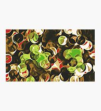 green brown and red circle pattern Photographic Print