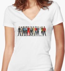 Outfits of Jackson LV Women's Fitted V-Neck T-Shirt