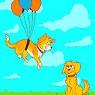 Dogs n Balloons by shaytastic
