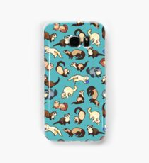 cat snakes in blue Samsung Galaxy Case/Skin