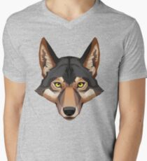 Wolf Portrait Men's V-Neck T-Shirt