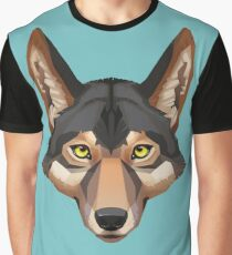 Wolf Portrait Graphic T-Shirt