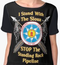 Standing Rock Sioux Crossed Arrows Chiffon Top
