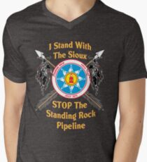 Standing Rock Sioux Crossed Arrows Men's V-Neck T-Shirt