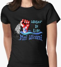 Water Is Life - Stand With Standing Rock Women's Fitted T-Shirt