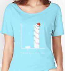 Christmas Carol Math Bar Graph Women's Relaxed Fit T-Shirt