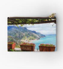 Scenic Amalfi Coast View from Under a Trellis Studio Pouch