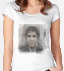 Leonard Cohen Portrait Women's Fitted Scoop T-Shirt