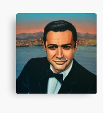 Sean Connery as James Bond Painting Canvas Print