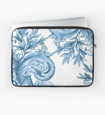 Blue Floral Swirl Laptop Sleeve