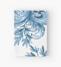 Blue Floral Swirl Hardcover Journal