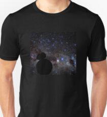 Star Wars VII. BB8 siluette in the space Unisex T-Shirt