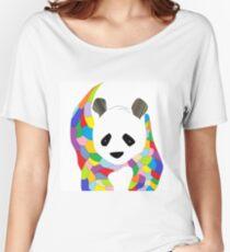 Patchwork Panda Women's Relaxed Fit T-Shirt