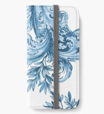 Blue Floral Swirl iPhone Wallet/Case/Skin