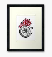Rose Compass Framed Print