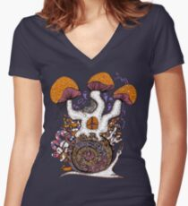The Snail House Women's Fitted V-Neck T-Shirt