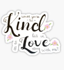 Doddleoddle- Would You be so Kind? Sticker