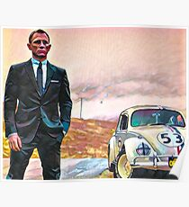 Herbie and a British Spy Poster