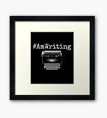 #AmWriting Typewriter Author and Writer Framed Print