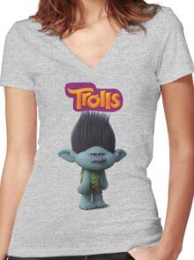 branch troll Women's Fitted V-Neck T-Shirt