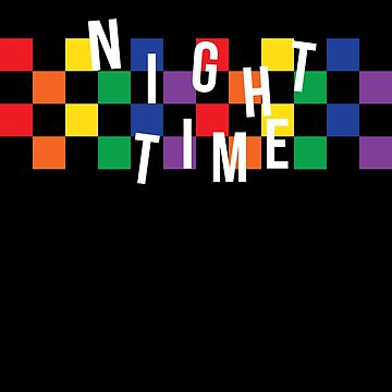 RAINBOW CHECKERED NIGHTIME by mikegofwgkta