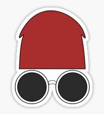 Beanie & Glasses Sticker