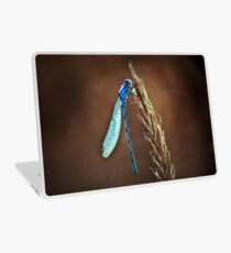 blue dragonfly Laptop Skin
