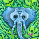 blue elephant  by melaniedann