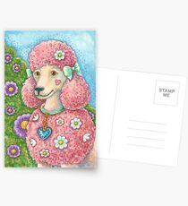 DAISY THE PINK POODLE Postcards