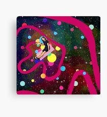 Universe painter Canvas Print