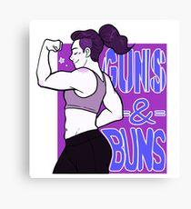 Guns & Buns Canvas Print