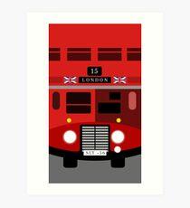 England British Double Decker Bus Minimalist Art Print