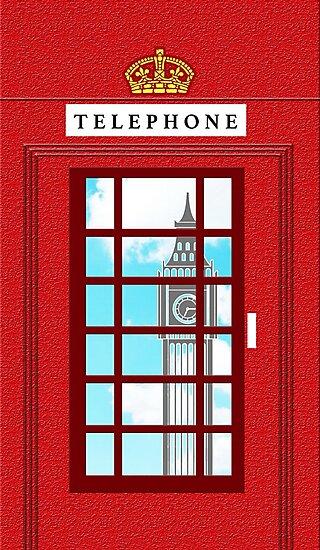England Classic British Telephone Box Minimalist by superbcase