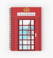 England Classic British Telephone Box Minimalist Spiral Notebook