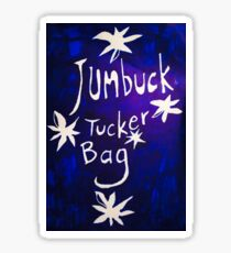 Jumbuck Tucker Bag White Text  Sticker